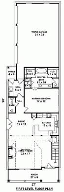 house plan for narrow lot floor plan of country narrow lot house plan 46427