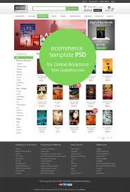 Home Design Free Website Online E Commerce Home Page Template Psd For Online Bookstore