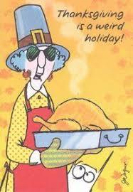 maxine thanksgiving falling glitter