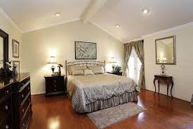 Lighting Options For Vaulted Ceilings Bedroom Designed With Light Wall Colors And Vaulted Ceiling