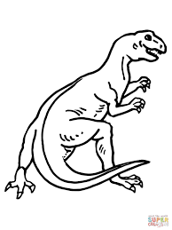 teratosaurus dinosaur coloring page free printable coloring pages