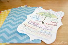 baby shower invitations with your silhouette unoriginal