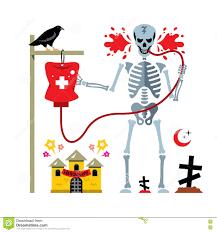Halloween Skeleton Art Vector Halloween Skeleton And Dropper Cartoon Illustration Stock