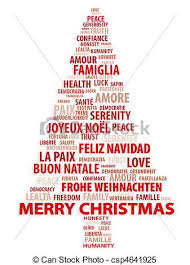 feliz navidad christmas card tree of words christmas card christmas card in different stock