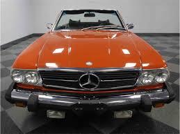 orange mercedes 1976 mercedes benz 450sl for sale classiccars com cc 996446