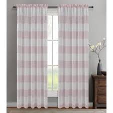 Gray And Pink Curtains Pink Curtains Wayfair