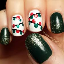 Christmas Light Nails by Miss Ruby Nails Christmas Lights Nails