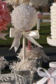 centerpieces for quinceanera pearl topiary centerpiece baptism center pieces graduation