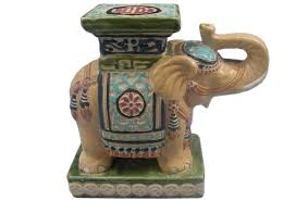 vintage ceramic elephant plant stand omero home