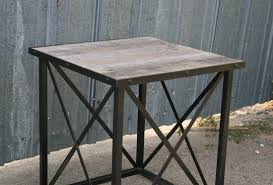 Reclaimed Wood Side Table Fresh Reclaimed Wood End Table Industrial Side Table Combine 9