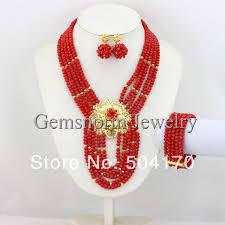beads necklace set images Fabulous nigerian beads jewelry set african wedding beads jewelry jpg
