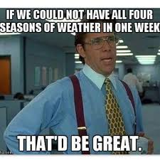 Funny Weather Memes - four seasons of weather in one week pictures photos and images