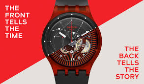 red swatch swatch sistem red watch sutr400 swatch system51 watches