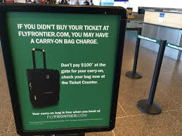 frontier baggage fees frontier airlines andrew hyde