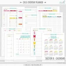 printable planner pages for 2015 50 sale daily planner printable daily planner inserts a5