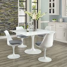 White Furniture Company Dining Room Set Saarinen Style Square Dining Table 47
