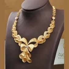 gold flower necklace designs images 22k gold floral necklace design pinterest floral necklace jpg