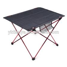 Camping Picnic Table Portable Camping Table Outdoor Golden Aluminium Alloy Foldable