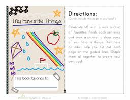 my favorites worksheets curriculum and pre