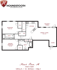 2 Bedroom Condo Floor Plans Houndstooth Condos Apartment In Tuscaloosa Al