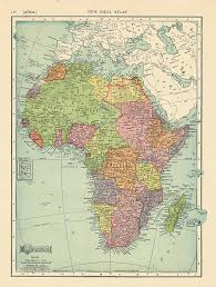 africa map with country names and capitals countries independence dates