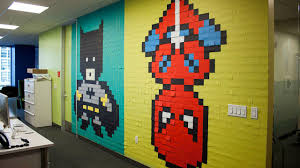 san francisco designer decorates drab office walls with incredible photos man decorates drab office walls with incredible post it murals