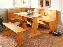 corner dining room set amazon com essential home emily breakfast nook kitchen nook solid
