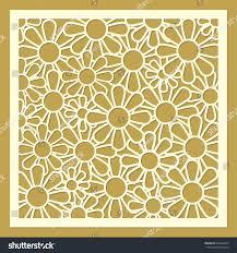 daisy flower ornament laser cut template stock vector 653668249