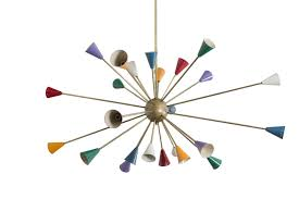 Sputnik Ceiling Light Italian Multicolored Brass Sputnik Ceiling Light 1950s For Sale