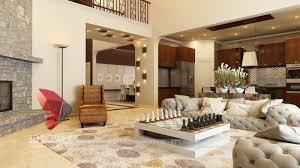 bungalow dining room luxurious interior living room dining u0026 kitchen rendering design
