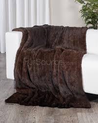 Faux Fur Throw Pillow Mahogany Knit Mink Fur Throw Fursource Com