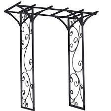 Wedding Arch Garden 84in X 76in With Black Metal Garden Arbor Arch With Vines