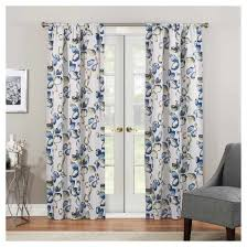 Top And Bottom Rod Curtains Floral Curtains Target