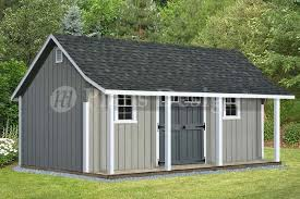 Free Wooden Storage Shed Plans by 14 U0027 X 16 U0027 Cape Code Storage Shed With Porch Plans P81416 Free