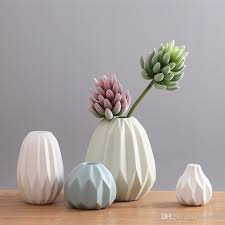 Home Decor Vase Home Decoration Flower Pots Planters Folding Paper Surface Flower