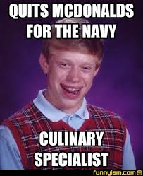 quits mcdonalds for the navy culinary specialist meme factory