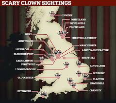 creepy clowns terrorise britain as children are chased and others