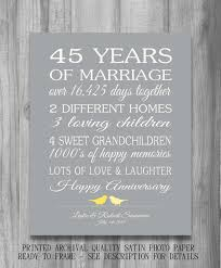45 wedding anniversary 45th wedding anniversary gift customized personalized story