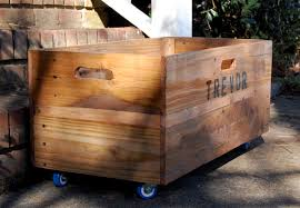 large wooden box personalized x large rolling crate wooden crate