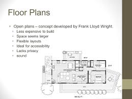 Frank Lloyd Wright Floor Plan Residential Planning Chapter 6 And Chapter 7 Highlights Ppt