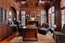 expensive home office decorating ideas with leather swivel chair