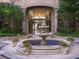 front yard landscaping with fountains rdcny plus morden fountain