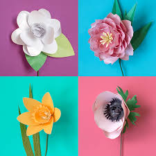 137 paper flowers with diy templates and tutorials