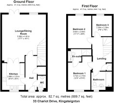 simple house floor plans with measurets