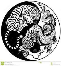 tiger yin yang design