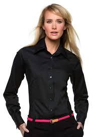 premier womens ladies poplin polycotton long sleeve corporate