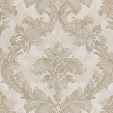 pavia gray scroll damask wallpaper traditional wallpaper by