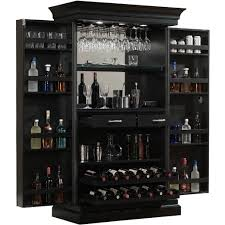 ashley heights black stain home bar wine cabinet free shipping