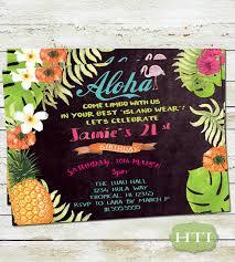 luau birthday invitation hawaiian birthday birthday party
