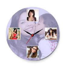 personalized clocks with pictures personalized photo wall clocks sprinklecart